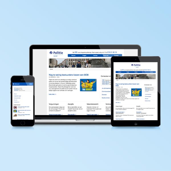 Web publishing platform for the Belgian Police details