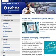 Joomla distro for the Belgian Police details